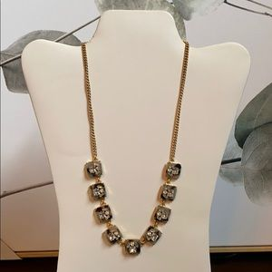 J. Crew: NWT Tortoise and Faux Diamond Necklace